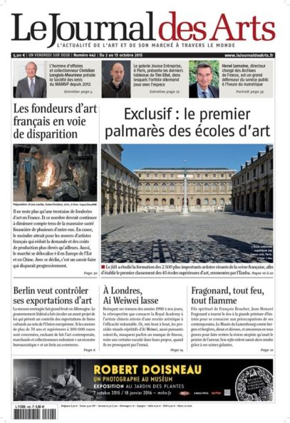journaldesarts 2 octobre